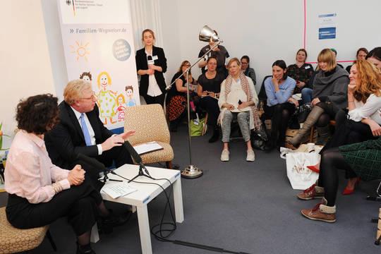Gruppenfoto aus dem Bloggercafé