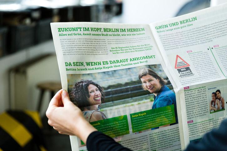 Wahlkampfzeitung von Bündnis 90/Die Grünen