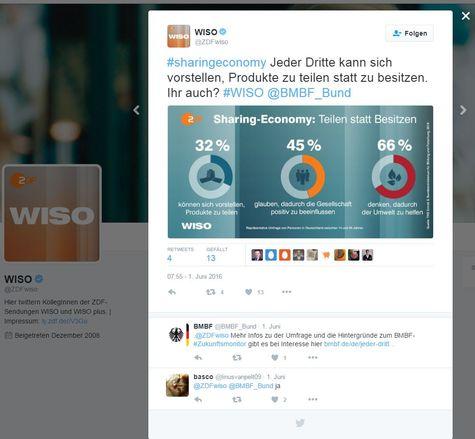 Das Bild zeigt einen Screenshot von WISO, als dort über den ZukunftsMonitor berichtet wurde.