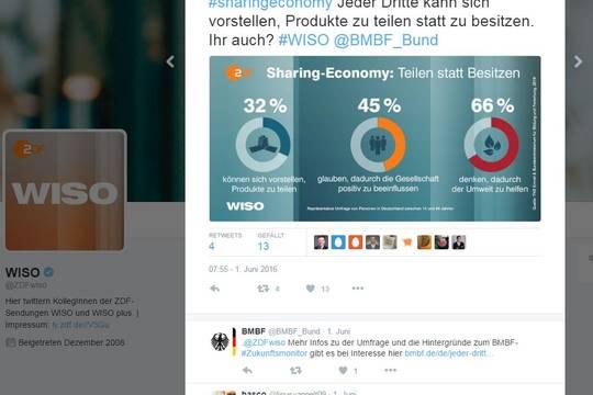 Das Bild zeigt einen Screenshot von bild.de, als dort über den ZukunftsMonitor berichtet wurde.