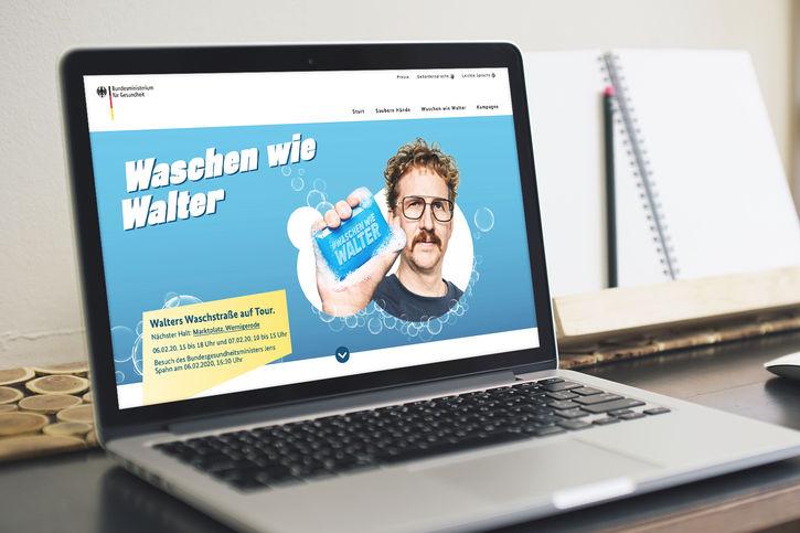 #waschenwiewalter: KOMPAKTMEDIEN realisiert BMG-Kampagne rund um Händehygiene