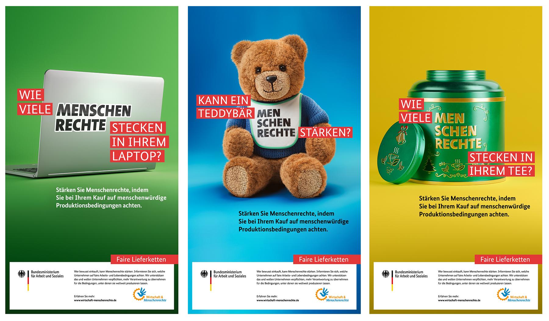 Werbekampagne: Nationaler Aktionsplan Wirtschaft und Menschenrechte