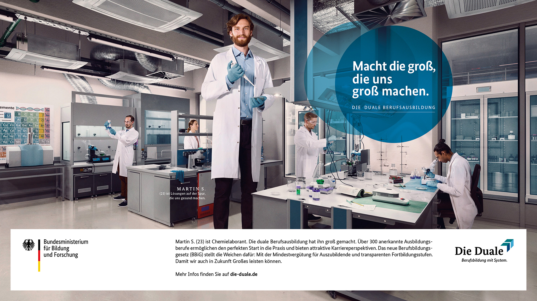 """Nationale Informationskampagne """"Die Duale – Berufsbildung mit System"""""""